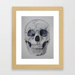 Human skull watercolour Framed Art Print