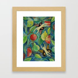 Autumn Fruits Framed Art Print