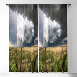 Aquamarine - Storm Over Colorado Plains Blackout Curtain