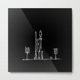 Monochrome Cosmodrome Ver 1 Metal Print