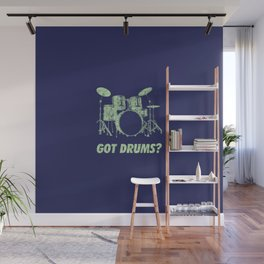 Got Drums Funny Drums Vintage Drummer Distressed Wall Mural
