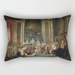 Jacques-Louis David - The Consecration of the Emperor Napoleon and the Coronation of Empress Joséphi Rectangular Pillow