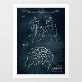 2000 - Operating device with analog joystick patent art Art Print