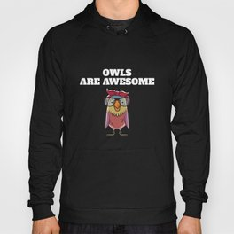 Owls Are Awesome Owl Lovers Hoody