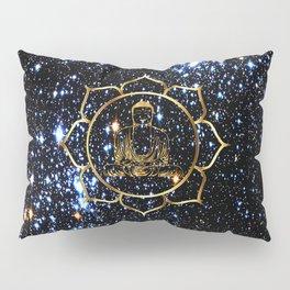 Gold funky Space Buddha Pillow Sham
