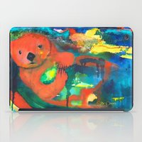 otter iPad Cases featuring Otter by Silke Powers