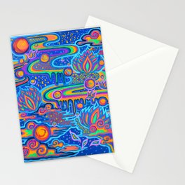Space train Stationery Cards