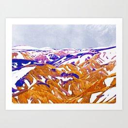 Snow Walk #painting #digitalart #nature Art Print