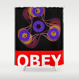 Obey the Figet Shower Curtain