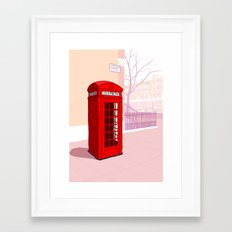 London Telephone Box Framed Art Print
