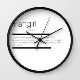 Fangirl Defined Wall Clock