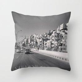 جبل القصور (Hill of Castles)  Throw Pillow