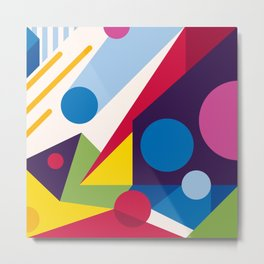 Abstract modern geometric background. Composition 11 Metal Print