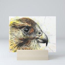 Falcon / watercolor painting / fineliner Mini Art Print