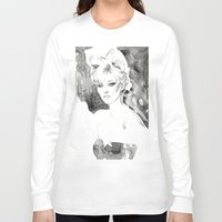 kate moss Long Sleeve T-shirts featuring Moss by Esther Kang