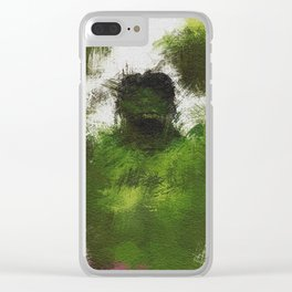 Smashing Green Clear iPhone Case