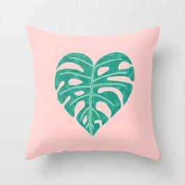 Leaf Heart Throw Pillow