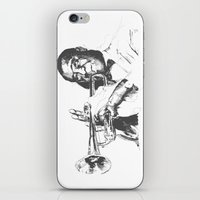 louis armstrong iPhone & iPod Skins featuring Louis Armstrong, Satchmo or Pops by 1and9