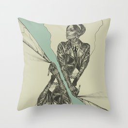 Queen of Carbon II Throw Pillow