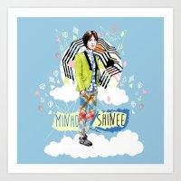 shinee Art Prints featuring SHINEE MINHO by Haneul Home