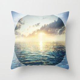 Bright Blue Horizons Throw Pillow