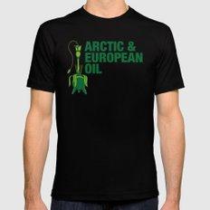 Arctic & European Oil Black Mens Fitted Tee MEDIUM