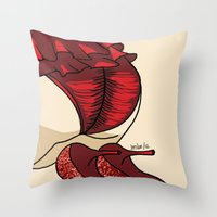 heels Throw Pillows featuring Red Heels by Leslie Pinto