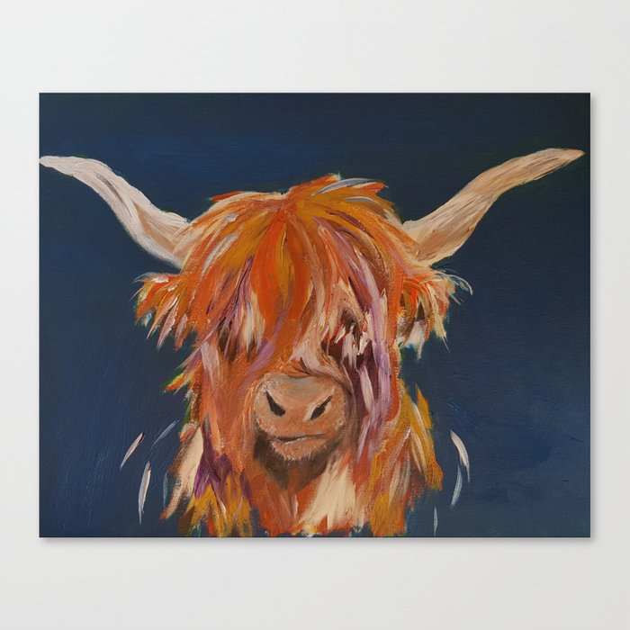 Bonnie Highland Cow Canvas Print