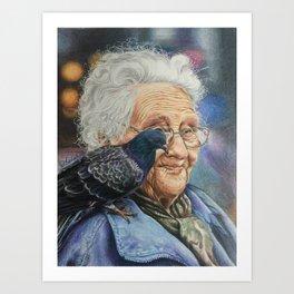 Pigeon Lady Art Print