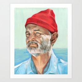 Steve Zissou Bill Murray Painted Portrait Art Print