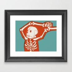 Overlay Skeleton Framed Art Print
