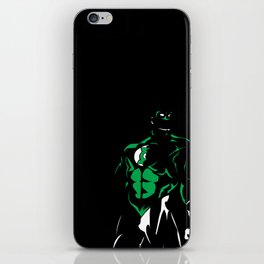 Green and White: Green Lantern's Light iPhone Skin