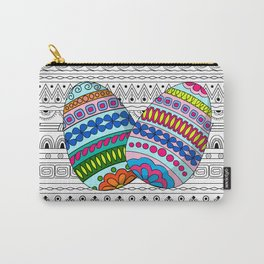 easter eggs on aztec pettern Carry-All Pouch