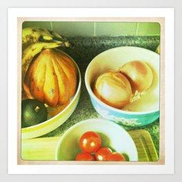 Fruit bowls Art Print
