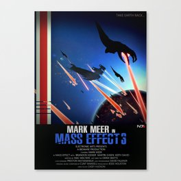 Reapers (Inspired by Mass Effect 3) Canvas Print