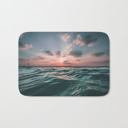 Sunset Tide Bath Mat