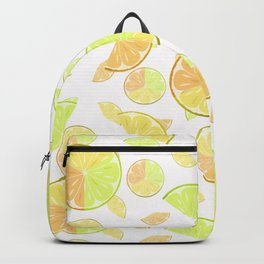 Abstract pattern with slices of citrus fruit . Backpack