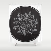 circle Shower Curtains featuring circle by aticnomar