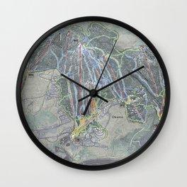 Okemo Resort Trail Map Wall Clock