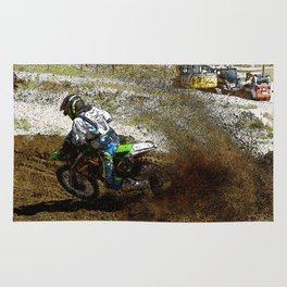 Round the Bend - Dirt Bike Racing Rug