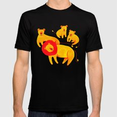 Lion Family MEDIUM Mens Fitted Tee Black