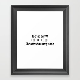 slap across the belly Framed Art Print