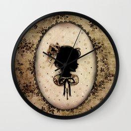 Miss Shadow - Vanilla Wall Clock