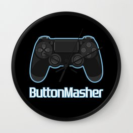 Button masher. Wall Clock