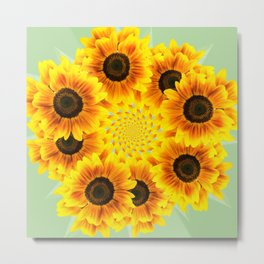 Spinning Sunflowers Metal Print