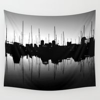 marina Wall Tapestries featuring Marina Pulse by RichCaspian