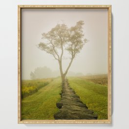Calming Morning Landscape Photograph Wall Art Serving Tray