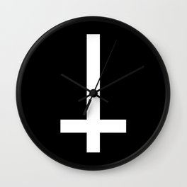 Inverted Cross Wall Clock