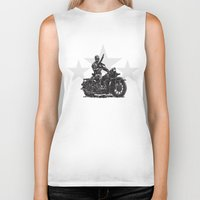 military Biker Tanks featuring Military Harley by Ernie Young