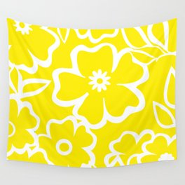 Yellow Flowers Fullfilled Wall Tapestry